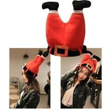 Рождественская шляпа, плюшевая шляпа эльфа Санты, украшение, Рождественская шапка, Новогодняя, Рождественская, вечерние, реквизит, украшение, забавная игрушка, подарок