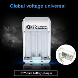 Image 1 - 2 Slots Standard Battery Charger Ni MH AA/AAA Rechargeable N95 Home Dual Ports Battery Charger EU Plug for 1.2V AA/AAA Battery