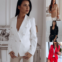 Autumn Office Blazer Women Coat Casual Plus Size E