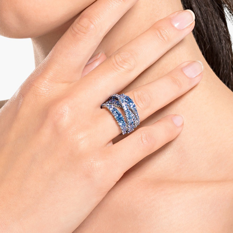 2020 fashion jewelry high quality SWA new style, charming twisted geometry lady exquisite ring