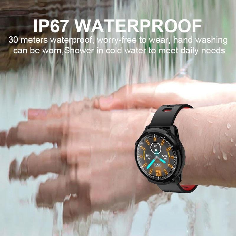 L3 Smart Watch Waterproof Women Men Smartwatch Round Screen Heart Rate Pedometer Call Message Reminder Smart Activity Tracker