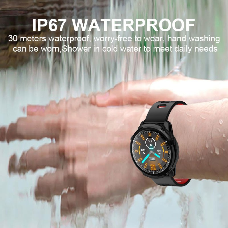 L3 Waterproof Smart Watch with Round Screen Heart Rate Pedometer and Call Message Reminder Smart Activity Tracker for Women Men 5