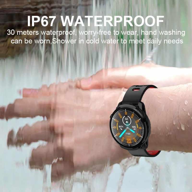 Reloj inteligente L3 impermeable para hombres y mujeres reloj inteligente de pantalla redonda podómetro de frecuencia cardíaca recordatorio de mensajes de llamada Rastreador de actividad inteligente