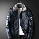Men Leather Coat Coa...
