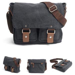 Image 5 - Tuval SLR kamera çantası ulusal coğrafi fotoğraf SLR kamera çantası Canon Nikon Sony için mini Messenger omuz çantası