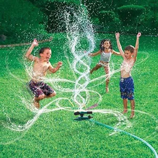 Garden Sprinklers Automatic Watering Grass Lawn 360 Degree Rotating Water Sprinkler 3 Arms Nozzles Garden Irrigation Tools