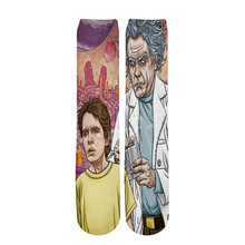 Tessffel Rick and Morty Anime Cartoon casual Unisex 3D Print boys/girls/mens/womens funny colorful Drop ship ankle socks style-4