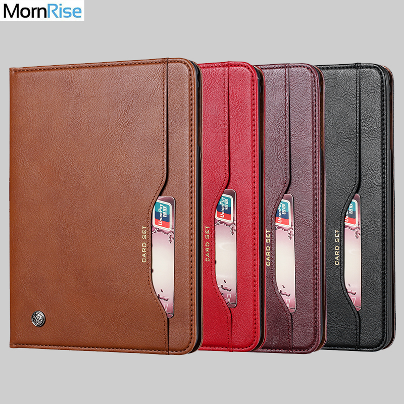 Luxury Vintage Suede Leather Cover For Samsung Galaxy Tab A 8.0 T290 2019 Case Wallet Card Stand Magnetic Book Classic Flip Case