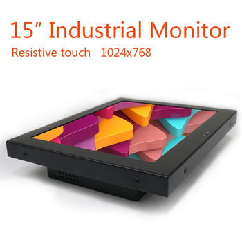 """15"""" Inch PC Display Desktop LCD Screen Monitor of Tablet  VGA HDMI DVI USB Advertising display 1024*768 Resistance Touch Screen"""
