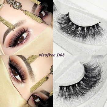 Visofree eyelashes 3D mink eyelashes long lasting mink lashes natural dramatic volume eyelashes extension false eyelashes D08