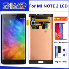 100% Original AMOLED LCD for Xiaomi Mi Note 2 LCD display Touch Screen Digitizer Assembly 5.7 inch For Mi note2 with Frame+tools