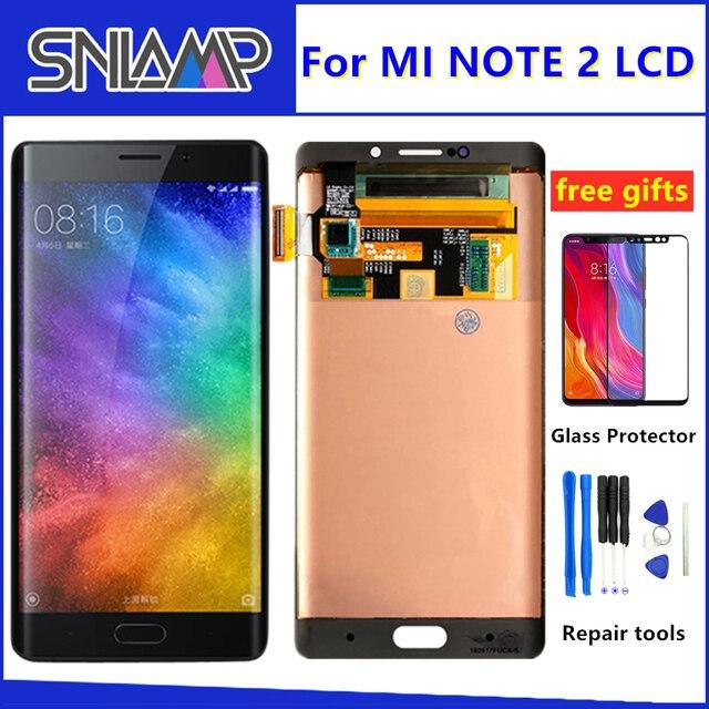 100% pantalla LCD AMOLED Original para xiaomi mi Note 2 MONTAJE DE digitalizador con pantalla táctil 5,7 pulgadas para mi note2 con marco + herramientas