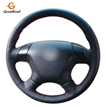 Black Genuine leather Car Steering Wheel Cover for Honda Accord 7 2003 2007 Odyssey 2005 2010