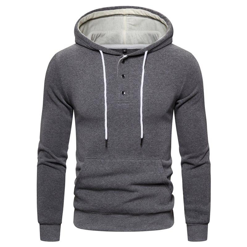 2019 New Autumn Winter Cotton Hoodied Mens Sweatshirts Solid Hoody Fleece Thick Hoodies Men Sportswear Zipper Sweatshirts Men 16