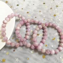 New Fashion Milk Kunzite Bracelet Natural Stone Loose Beads 8mm For Women Men Best Friend Birthday Holiday Gift