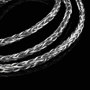 Image 5 - الأصلي BGVP DM6 400 سلك 6N OCC الفضة مطلي سماعة كابل العالمي MMCX 0.78 2pin HiFi سماعات كابل استبدال