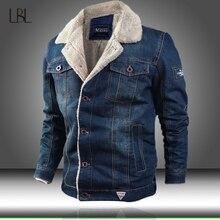 Męska kurtka i płaszcz modny ciepły polar gruba kurtka dżinsowa 2020 moda zimowa mężczyzna kurtka dżinsowa znosić mężczyzna kowboj Plus rozmiar 4XL