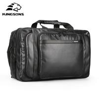 Kingsons Men Luggage Bag Waterproof Anti theft Travel Bag Multifunctional Handbag for 15.6 inch Laptop Large Capacity