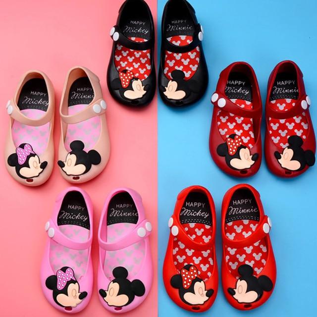Children's Shoes 2019 New Summer Girls Sandals PVC Jelly Kids Beach Shoes Baby Cartoon Princess Shoes Children's Shoes