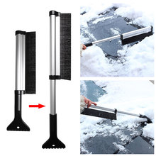 Extendable Car Auto Ice Scraper Shovel Snow Brush Removal Cleaning Tool Window Windscreen Windshield Deicing Cleaning Scraping