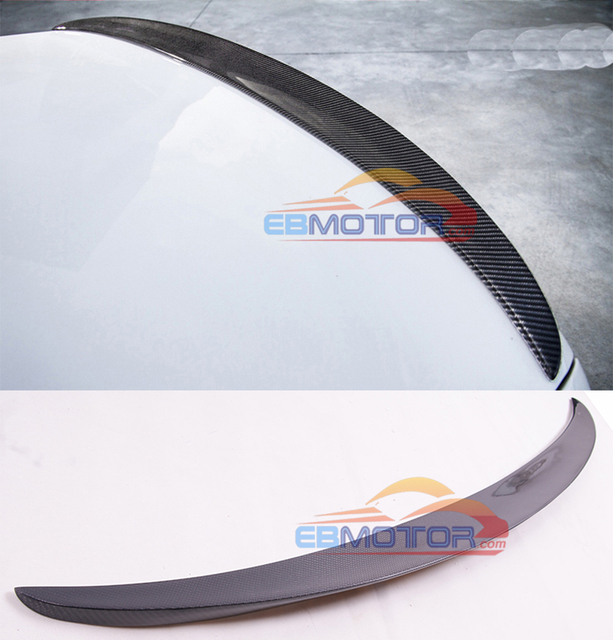 $ US $54.00 MP Style Real Carbon Fiber Trunk lip Spoiler Wing For BMW 530i 540i G30 2017UP B459