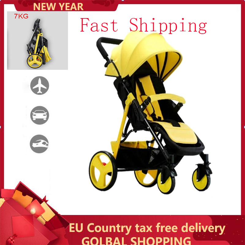 Lightweight Folding Baby Stroller 2 In 1 Can Sit Can Lie Can On The Airplane Travel System Parabebe Children Pram For Newborn