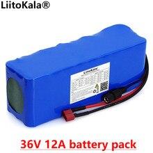 Liitokala 36V 12Ah 10s4P 18650 batteria al litio ad alta potenza 12000mAh moto auto elettrica bicicletta Scooter con BMS