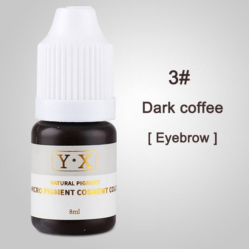 Semi Permanent Makeup Eyebrow Ink Lips Eye Line Tattoo Color Microblading Pigment PR Sale