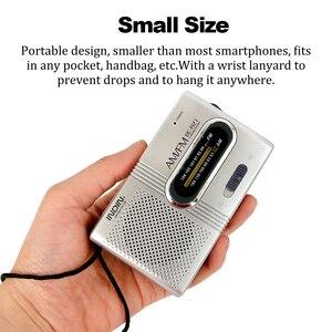 Image 4 - BC R21 Mini Portable Radio AM FM Radio Adjustable Telescopic Antenna Pocket Radios Built in Speakers 3.5mm Headphone Jack