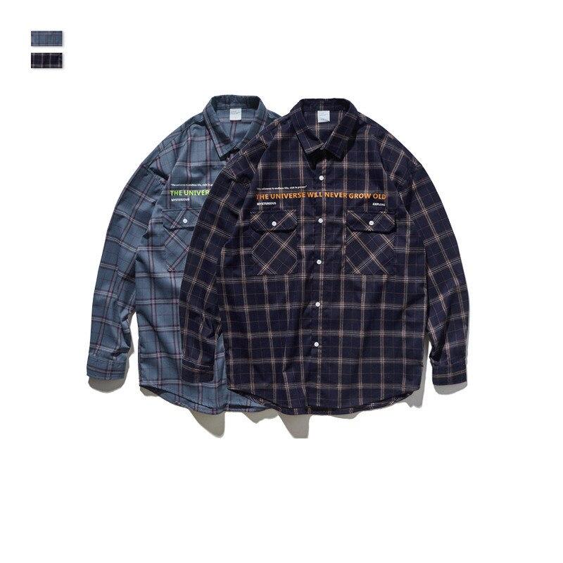 Cooo Coll Men women fashion shirts hip hop kanye west winter casual harajuku printing streetwear tops Plaid retro clothes shirts in Casual Shirts from Men 39 s Clothing