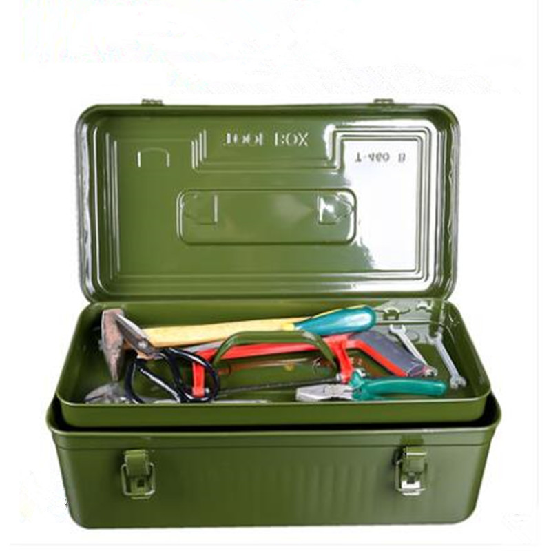 Thickened Metal Toolbox Large, Medium And Small Household Hardware Iron Tool Box Iron Box Portable Storage Box