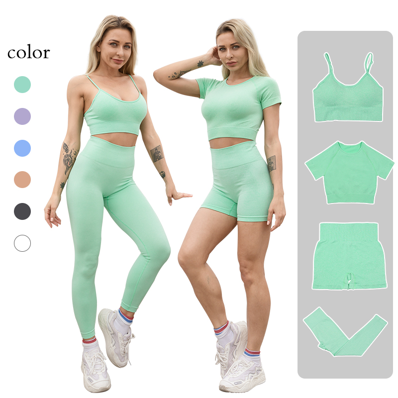 Summer Clothes for Women's Tracksuit Sportwear Sports Bra Shorts Suit for Fitness Workout Set Leggings for Fitness Gym Clothing