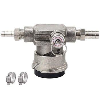 Acoplador de Keg de perfil bajo de acero inoxidable, acoplador del sistema D con válvula de alivio de presión de seguridad, acoplador de grifo de Keg ahorrador de espacio con 1/4
