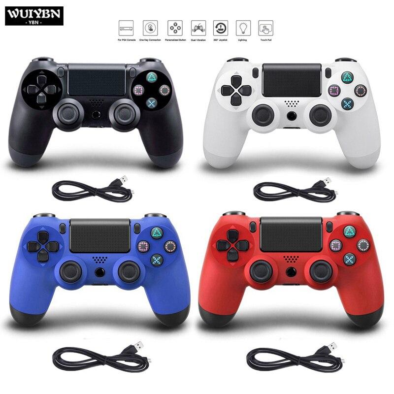 Wuiybn gamepad com fio ps4 controlador usb jogo joystick para sony playstation 4 console pc vapor joypad
