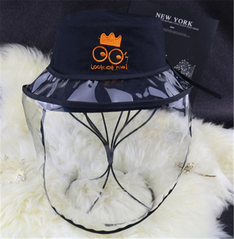 Sunflower Removable Face Mask Suits Any Kinds Of Hats Anti Spitting Cap Cover Isolate Saliva Bucket Hat Mask For Kids Hats Caps