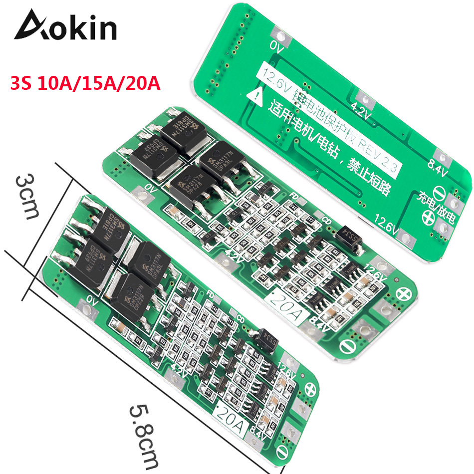 1S 2S 3S 4S 3A 20A 30A Li ion Lithium Battery 18650 Charger PCB BMS Protection Board For Drill Motor Lipo Cell Module|Battery Accessories|   - AliExpress