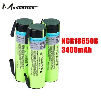 Poznaj śliczne 3400mAh NCR18650B 3 7V chronione 18650 akumulator bateria litowa z DIY kawałek niklu do latarki tanie i dobre opinie Meetcute 18650BTP 3001-3500 mAh Li-ion Baterie Tylko Pakiet 1 as picture