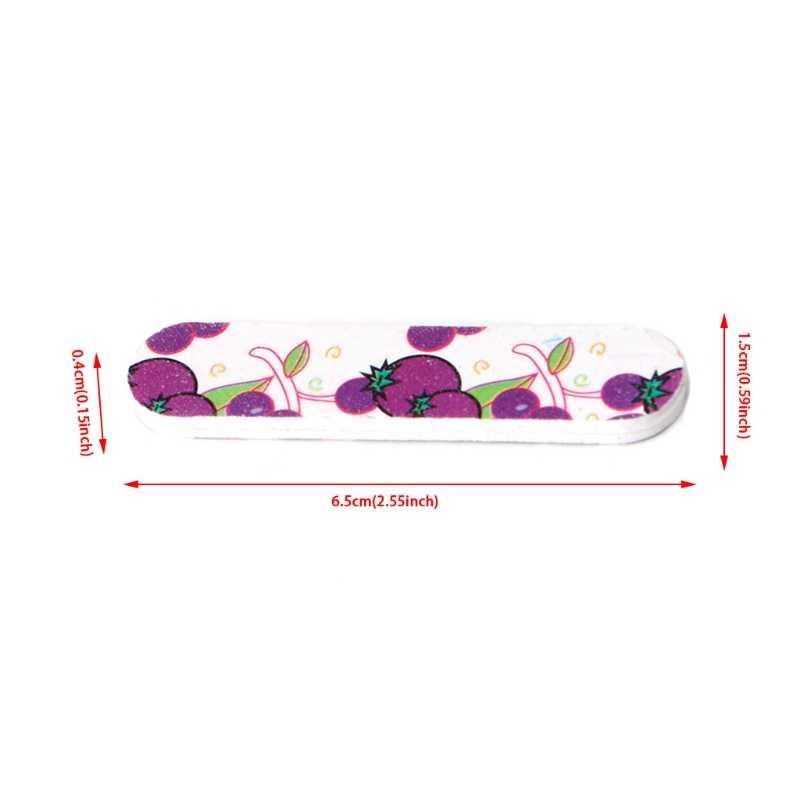 Livraison directe et vente en gros Mini Pro limes à ongles mignon rond Double face grain ongles Art conseils outils manucure Oct.15