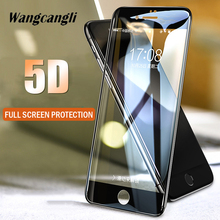 2Pcs/Set 5D glass protective film for iPhone6 6Plus HD screen protector transparent hard full tempered