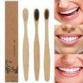 Tragbare Bambus Zahnbürste Natürliche Umweltschutz Holz Oral Reinigung Oral Care Holz Griff Zahnbürste