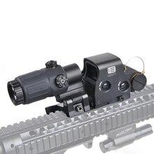 Tactical 558 Olografico Rosso e Verde Dot Scope 33 3x Lente di Ingrandimento Combo Portata del Fucile 558 + 33 di Caccia Sight per 20 millimetri Rail Mount