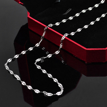 Hot Sale Womens Mens Necklace Lip Shape Chain Stainless Steel Silver Wholesale for Men Jewelry Gift 16-32