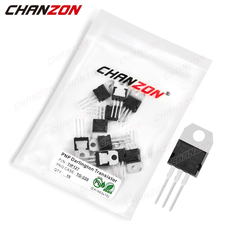 10Pcs TIP127 TO-220 PNP Darlingtone Power Transistor Bipolar Junction BJT Pwerful Tube Tip Fets DIP 5A 100V Integrated Circuits