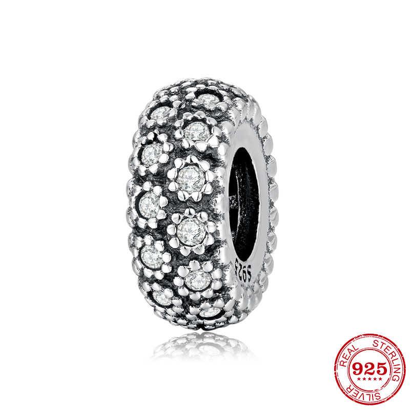 100% otantik 925 ayar gümüş moda kadın takılar halka boncuk Fit orijinal JIUHAO Charm bilezik takı yapımı