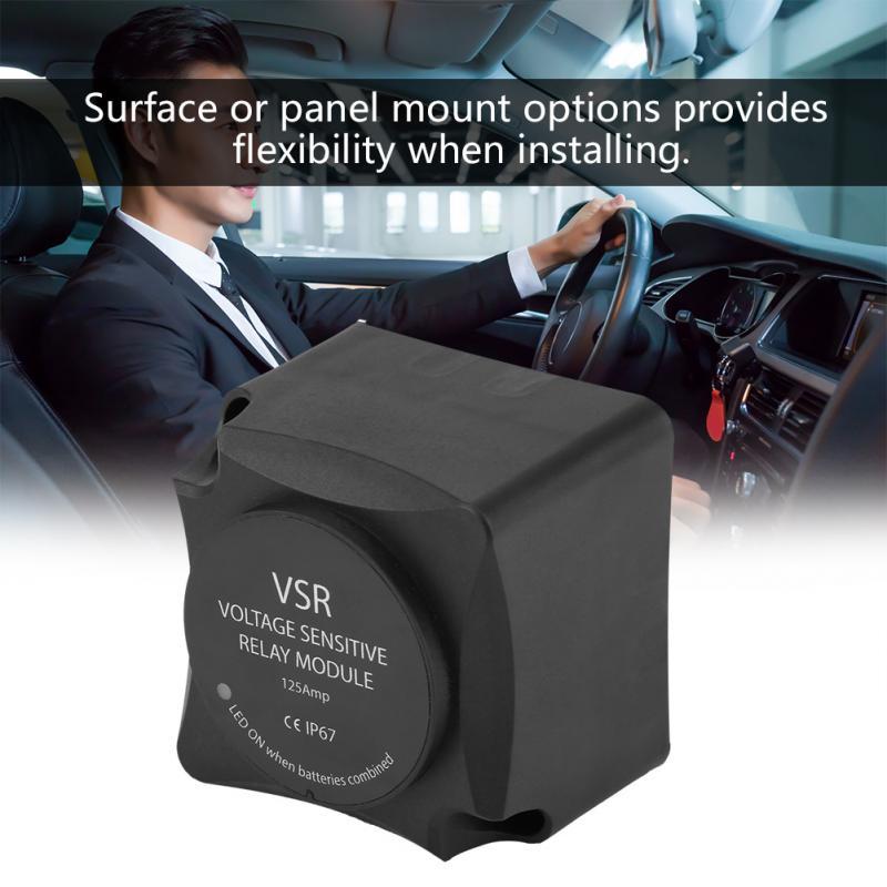 Isolateur de batterie automatique | Relais sensible à la tension 125A, double batterie VSR, accessoires Auto