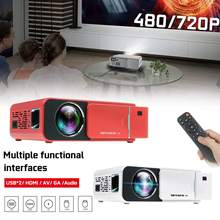 HD LED video Projector HDMI Dual USB 480P/720P Portable Cinema Beamer home/Offic