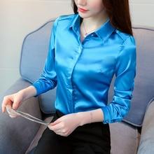 Women Silk Shirt Elegant Satin Blouses Shirts Blusas Mujer De Moda 2019 Korean Fashion Plus Size