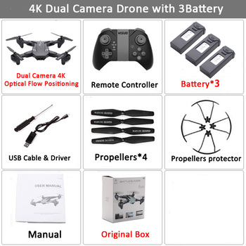 Visuo XS816 RC Drone with 50 Times Zoom WiFi FPV 4K Dual Camera Optical Flow Quadcopter Foldable Selfie Dron VS SG106 M70 21