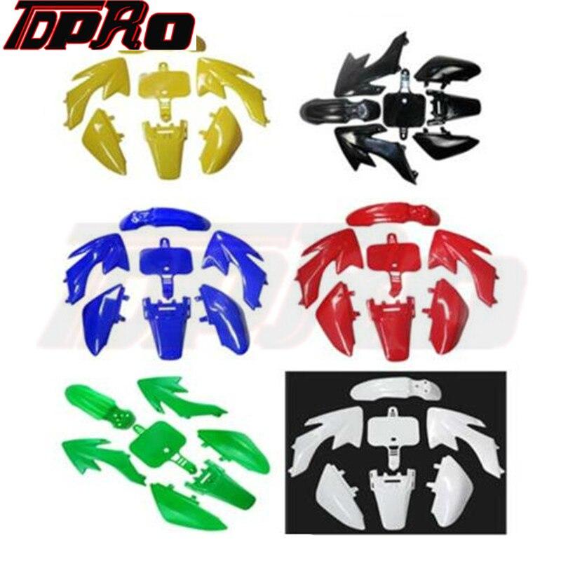 TDPRO For Honda CRF50 Motorcycle Plastics Full Fairing Kits Body Work 6 Colors 7 Pieces Bikes Thumpstar SSR SDG Baja Atomik XR50