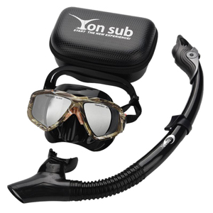 Yon Sub Camouflage Professional Scuba Diving Mask and Snorkels Anti-Fog Goggles Glasses Set Diving Swimming Easy Breath Tube Set(China)